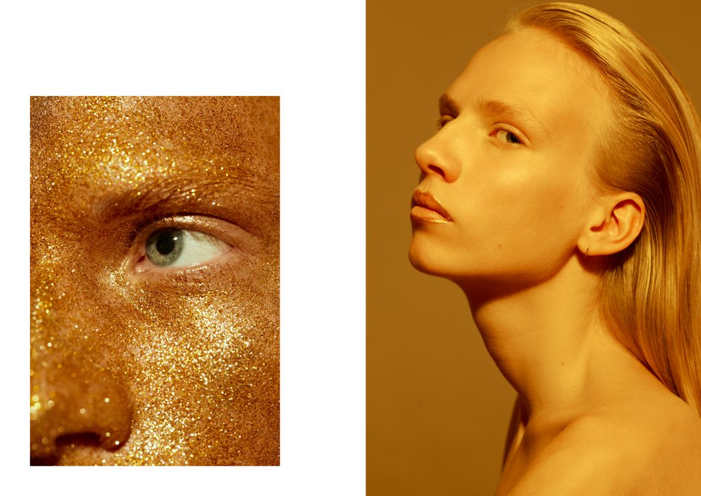 Make-up-Trend: Gold und Glitzer